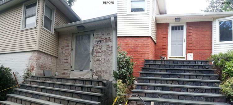 Dustless Brick Paint Removal