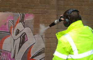 Dustless Blasting Graffiti Removal