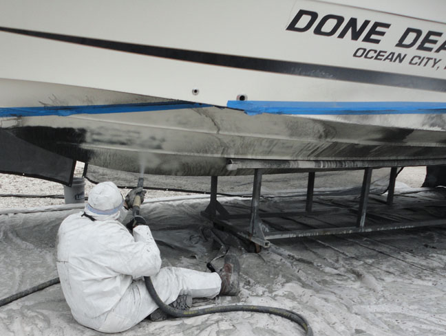 Dustless boat cleaning